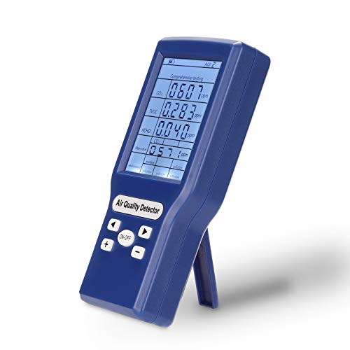 Kecheer - Sensor de calidad del aire, multifunción, CO2 ppm m, mini detector de dióxido de carbono, analizador de gas, probador de calidad del aire