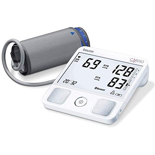 Beurer BM 93 CARDIO Oberarm-Blutdruckmessgerät mit 1-Kanal EKG-Funktion zur Aufzeichnung des Herzrhythmus, erkennt Vorhofflimmern und Extrasystolen,