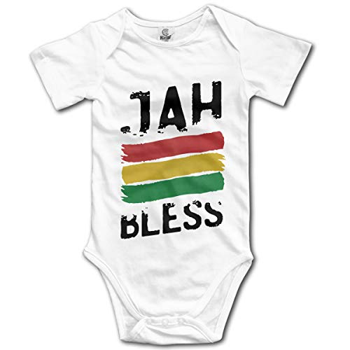 CDHL99 Jah Bless Newborn Infant Baby Short Sleeve Romper Pajamas 0-24 Months White