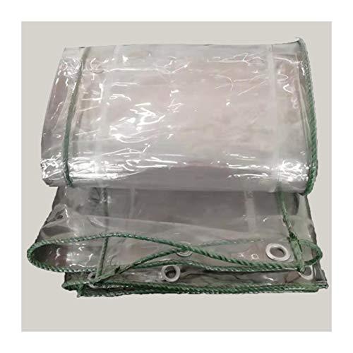 YJFENG Lonas Impermeable Tarea Pesada, Lona Transparente 420GSM, Membrana Suave De PVC Impermeable De 0,3 Mm, Resistente A La Lluvia Y Al Polvo, para Toldo De Jardín (Color : Claro, Size : 3X4M)