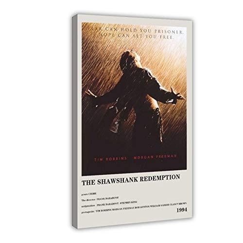 The Movie The Shawshank Redemption Leinwand-Poster, Wandkunst, Dekordruck, Gemälde für Wohnzimmer, Schlafzimmer, Dekoration, 40 x 60 cm, Rahmen