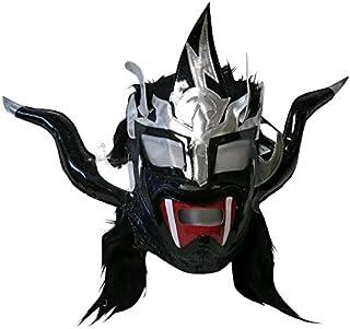 【プロレス マスク】獣神サンダー・ライガー レプリカマスク 髪付 ブラック×髪ブラック ルチャリブレ プロレス 22831/23411