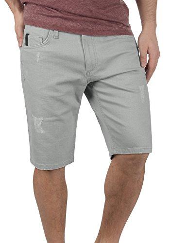 Redefined Rebel Monfire Pantalón Corto Vaqueros para Hombre Elástico Regular-Fit, tamaño:XL, Color:Light Grey