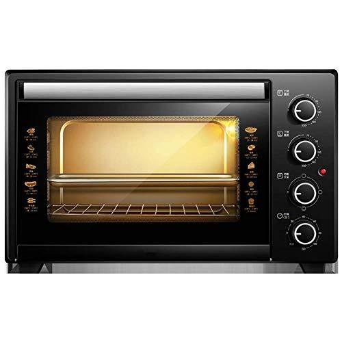 HIZLJJ Extra Wide Convection Countertop Toaster, Inklusive Backen Pan, Broil Zahn Röstgutträger, Edelstahl Elektro-Ofen Backzutaten Kleine Multifunktions