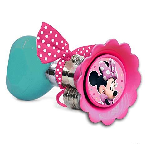 Disney Mädchen Fahrradhupe Minnie Mouse, Mehrfarbig, Umfang 6,5 cm. Länge 14 cm