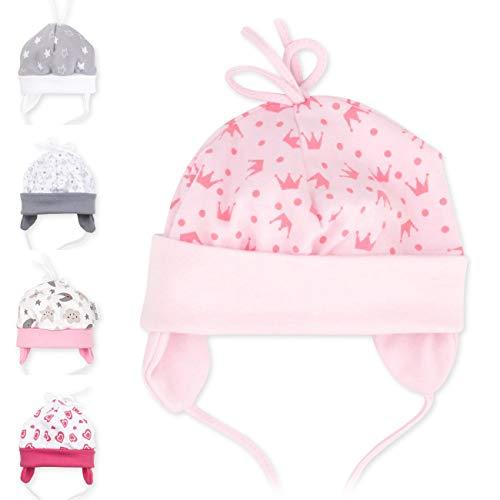 Baby Sweets Baby Mütze Mädchen rosa | Motiv: Sweet Princess | Babymütze zum Binden für Neugeborene & Kleinkinder | Größe: 9 Monate (74)…