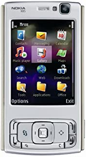 Nokia N95 Unlocked Cell Phone with 5 MP Camera, International 3G, Wi-Fi, GPS, MP3/Video Player, MicroSD Slot--International Version with Warranty (Silver/Plum)