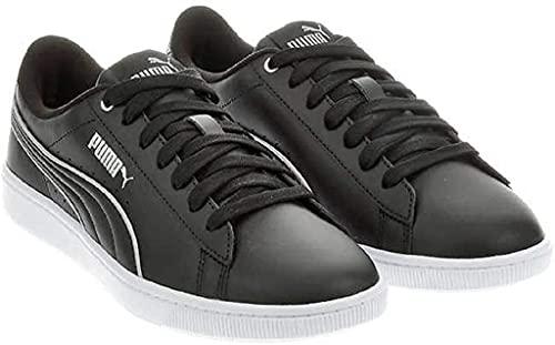 PUMA Womens Vikky V2 Sneaker - Ladies Tennis Shoes (Black, 6)