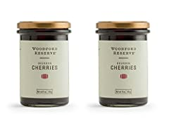 Muddle, garnish, and top your favorite cocktails with Woodford Reserve Bourbon Cherries Made from natural ingredients, these cherries bring a brightness along with hints of Kentucky's finest bourbon to recipes Refrigerate after opening. Net weight 11...