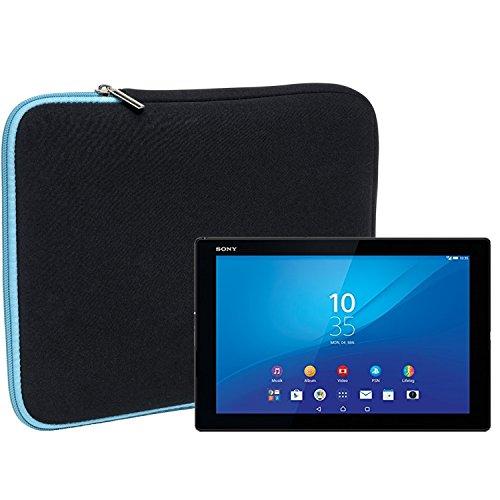 Slabo Tablet Tasche Schutzhülle für Sony Xperia Z4 Tablet-PC Hülle Etui Case Phablet aus Neopren – TÜRKIS/SCHWARZ