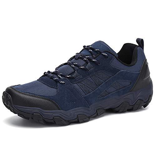 Dannto Men Hiking Shoes Outdoor Sneakers Lightweight(Blue,11.5US,EU 45)