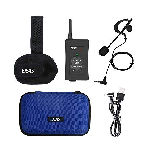 EJEAS FBIM Bluetooth Referee Headset Communication Wireless Intercom Football Coach Full Duplex Radio Walkie Talkie Microphone with Running Armband