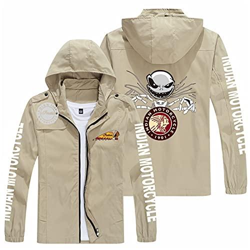 Heren hoodie jassen voor Indian waterdicht lange mouwen met afneembare hoed capuchon print sweatshirt volledige rits running klimmen softshell werkjassen