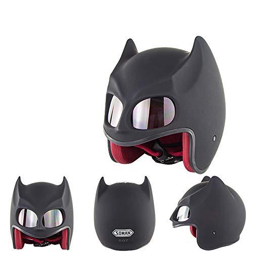 Braveking Casco Moto, Casco Abierto De Batman, Unisexo,