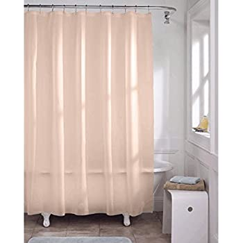 DINY Bath Elements Heavy Duty Magnetized Shower Curtain Liner Mildew Resistant Peach