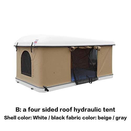 XTBB Dachzelt, hydraulische Steckdose, verschiedene Farben, mit Halterung für Vorhängeschloss mit 120 Sendungen, Geländewagen Darkgrey