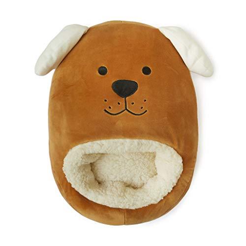 Balvi Calienta pies Woof! Color marrón Mantén Calientes Tus pies Bolsa Suave y cómoda con diseño Divertido y Original en Forma de Perro Poliéster