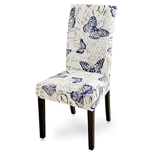 1/2/4/6 piezas moderno impreso silla cubierta elástico asiento silla cubre cubre banquetes hotel comedor cubierta A1, Estados Unidos, 6 piezas