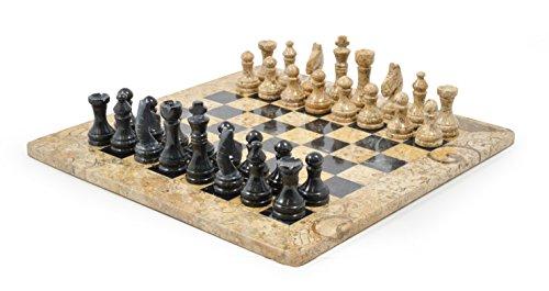 Juego de ajedrez de mármol de 38 cm.