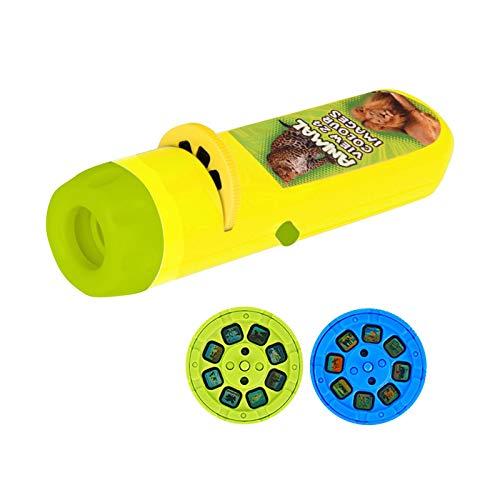 Foxlove Kinder Projektor Taschenlamp Diaprojektor Taschenlampe Projektionslicht Spielzeug Taschenlampen Lampe Filme Gutenachtgeschichte Spielzeug Bildungs - Spielzeug