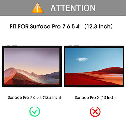 OMOTON Scr   een Protector Compatible with Surface Pro 7 / Surface Pro 6 / Surface Pro (5th Gen) / Surface Pro 4 [12.3 Inch] - [Tempered Glass] [High Responsivity] [Scratch Resistant] [High Definition]