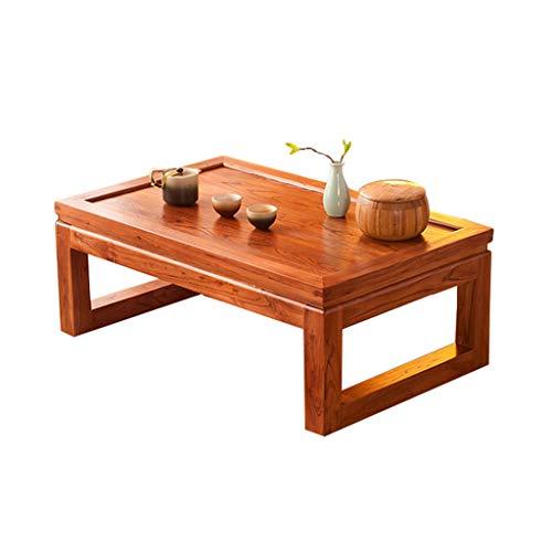 Tables D'ordinateur Basse en Tatami Ancien en Baie Vitrée Orme À Thé Chinoise en Bois Massif Bureau Zen Balcon Petite Salon Basse Moderne Basses