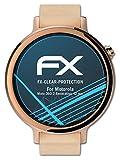 atFoliX Schutzfolie kompatibel mit Motorola Moto 360 2.Generation 42 mm Folie, ultraklare FX Bildschirmschutzfolie (3X)