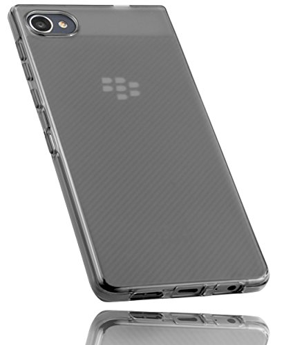 mumbi Hülle kompatibel mit BlackBerry Motion Handy Case Handyhülle, transparent Weiss