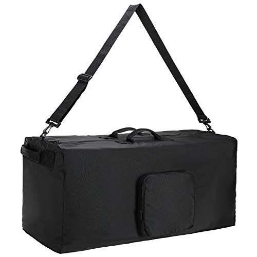 MIER Foldable Cargo Duffel Bag Heavy Duty Nylon Travel Duffle 140L