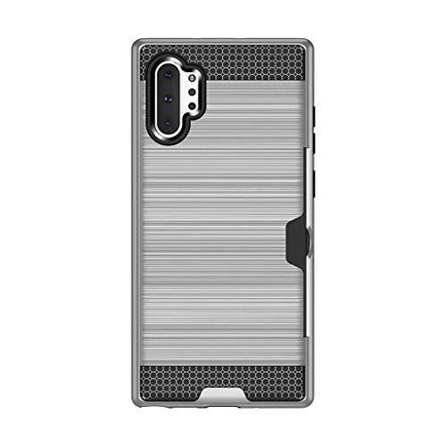 Tragbarer Kartenhalter Kreative Handy schutzhülle Geeignet für Samsung Galaxy Note 10+ 5G Smartphone Zubehör Multifunktions Handyhülle Kompatibel mit Bankkarte, Kreditkarte
