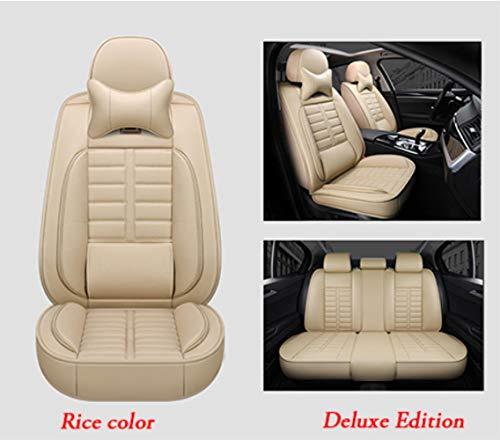 LUOLONG Auto-Sitzabdeckung, Lederspezialautositzbezug für Land Rover alle Modelle Range Rover Freelander Entdeckung evoque Autozubehör Car-Styling, Beige