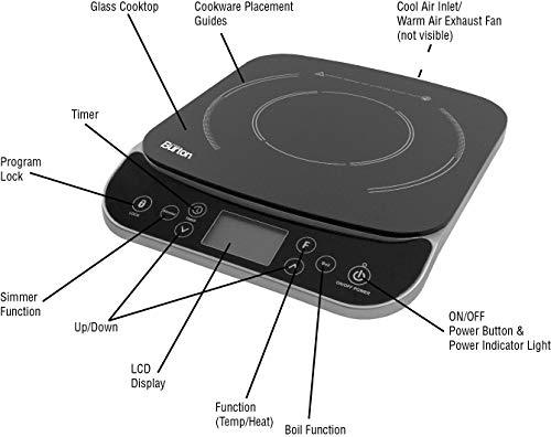 Product Image 2: Max Burton #6450 Digital LCD 1800 Watt Induction Cooktop Counter Top Burner