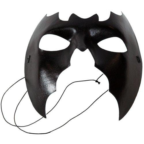 Máscara con forma de murciélago con elástico, negro