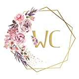 Wandaro Türaufkleber WC mit Blumenranke I Design 6 I Wandsticker Badezimmer selbstklebend Klo...