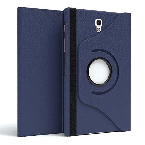 EAZY CASE Tablet Hülle kompatibel mit Samsung Galaxy Tab S 8.4, 360° Standfunktion I Schutzhülle mit Sleep und Wake Funktion I Tablethülle, Hülle aus Kunstleder, Dunkelblau