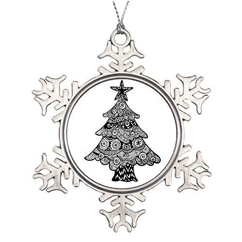 qidushop Weihnachtsschmuck Urlaub Baum Ornament Weihnachtsbaum Zentangle Design Schneeflocke Ornament Basteln Weihnachtsdekoration