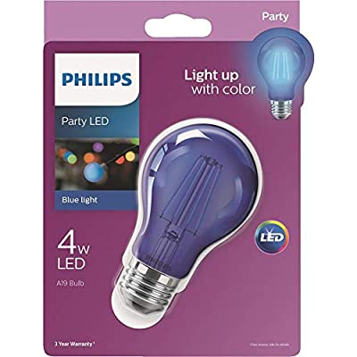 Philips LED 538207 A19 Party Bulbs: Filament Glass