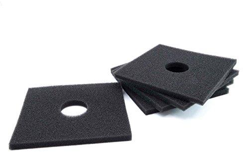 vhbw 5x Filter passend für Helios Ventilatoren ELF & ELSN Serie - 160 x 160 mm - Ersetzt 0587 - Lüfter Ersatzfilter Zubehör