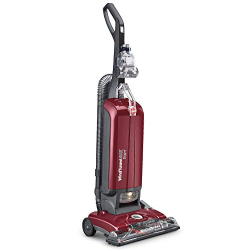 Product Image of the Hoover UH30600 WindTunnel Max Bagged Upright Vacuum Cleaner, with HEPA Media Filtration, 30ft. Power Cord, Red
