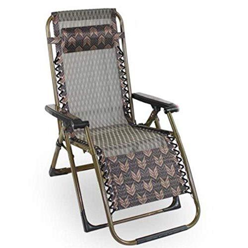 BABYCOW Recliner Armchair Klappliegestuhl Sun Lounger Gartenstühle Camping Stühle Outdoor Zero Gravity Stühle Lounger Recliner Klapp Lounge Chair Unterstützung 200Kg-D