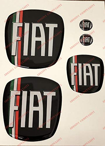 Freemont Logo vorne hinten + Lenkrad + 2 Embleme für Schlüsselanhänger für Motorhaube, Kofferraum,...