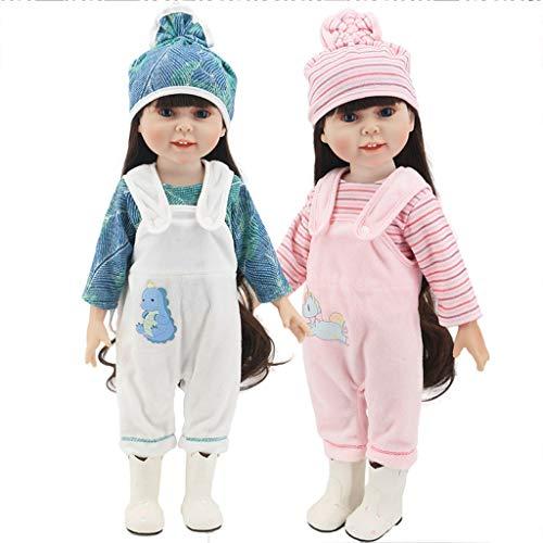Amycute 2 Sets Zubehörteile für Puppenkleidung, Kleidung für Puppen American Girl und andere 43 cm Puppenkleidung (ohne Puppen).
