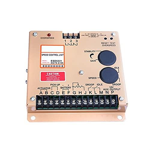 Para la velocidad del motor de control / alternador del motor GENSET Tarjeta de control de velocidad de la unidad de control de velocidad del generador diesel ESD5220 Controlador de velocidad Control
