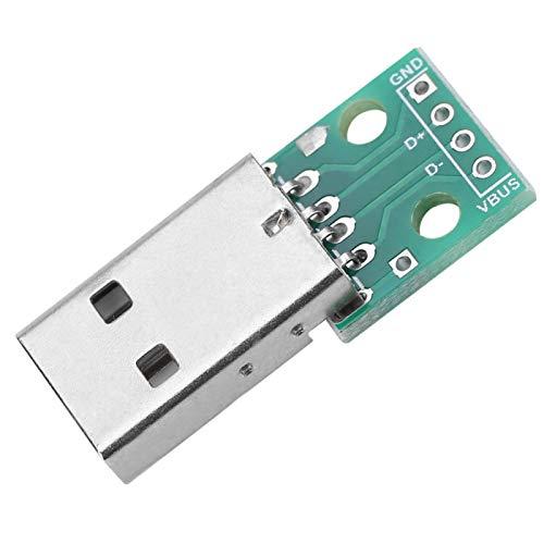 Buen Contacto USB Duradero DIY de 4 Pines para Placa de Circuito DIY para reemplazo de Interfaz