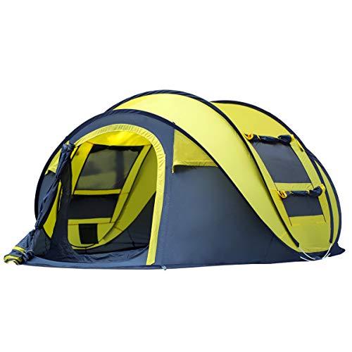Qisan Pop Up Tente Tentes Instantanées pour Camping 4 Personnes Secondes Pop Up Ouverture Rapide...