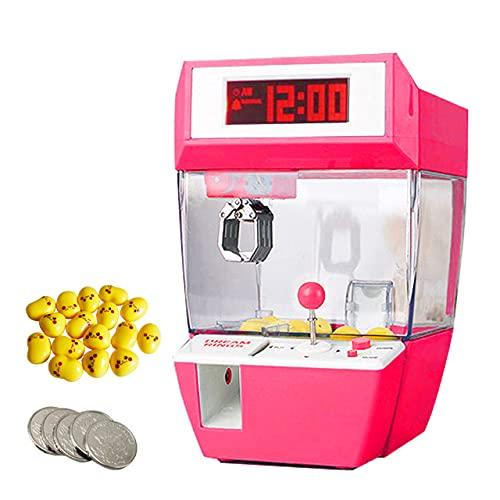 フェリモア 目覚まし時計 デジタル UFOキャッチャー ミニクレーンゲーム 卓上 おもちゃ雑貨 (ピンク)