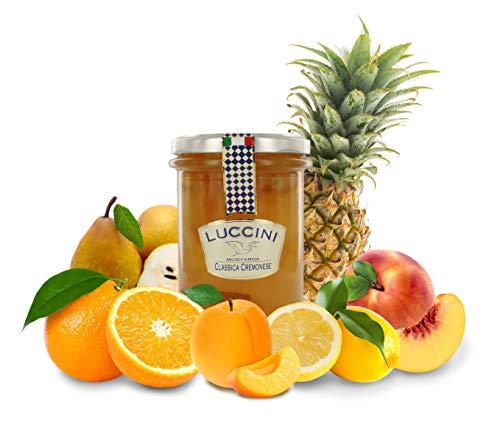 Luccini Mostarda Handarbeit, klassisch, cremefarben, 380 g, Mostarde – Früchte höchster Qualität