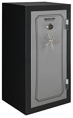 Stack-On TD-40-SB-C-S Total Defense 36-40 Gun Safe with Combination Lock, Matte Black/Silver
