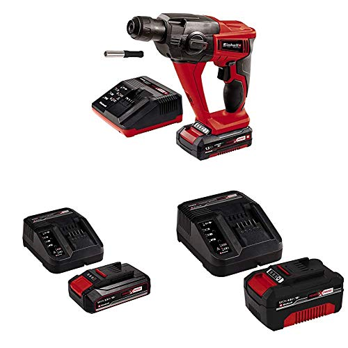 Einhell 18 LI TE-HD Power X-Change Cordless Rotary Hammer Kit with Original Einhell 18V 2.5Ah Starter Kit Power X-Change with Einhell Power X-Change Starter kit Battery with a Charger