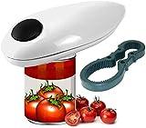 GAODA - Abrelatas profesional con un solo botón, seguridad automática para la cocina, abrelatas eléctrico inalámbrico, el mejor abrelatas eléctrico para personas mayores y cocineros.